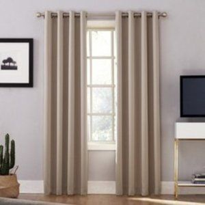 Sun Zero Lichtenberg Taupe Curtain One Panel 52x84